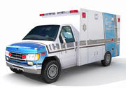 Ambulance laag poly 3d model