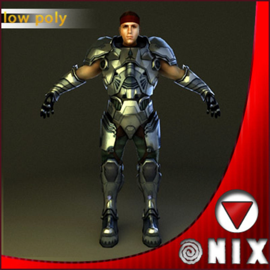 Space soldier(VRay) royalty-free 3d model - Preview no. 2