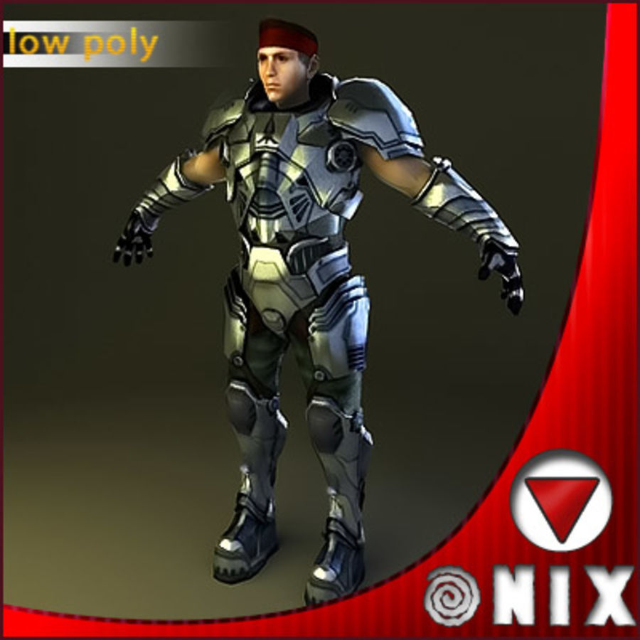 Space soldier(VRay) royalty-free 3d model - Preview no. 1