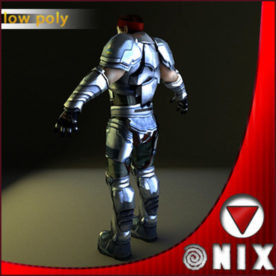 Space soldier(VRay) royalty-free 3d model - Preview no. 3