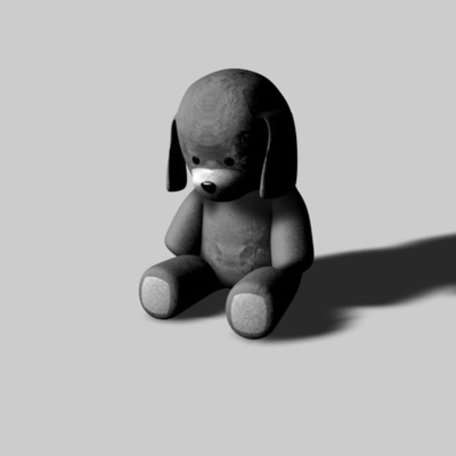 Toy Dog royalty-free 3d model - Preview no. 2