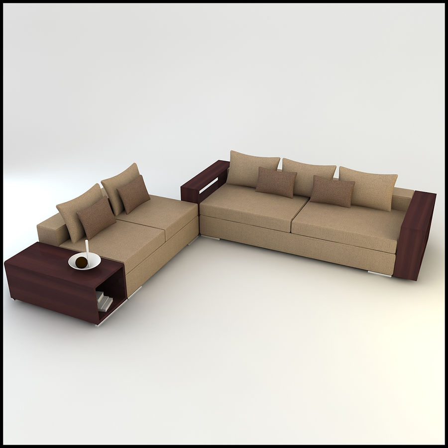 Box Type Sofa Designs: Corner Sofa Design CSD 02 3D Model $24