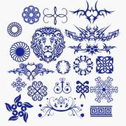 Decoration Patterns Collection 3d model
