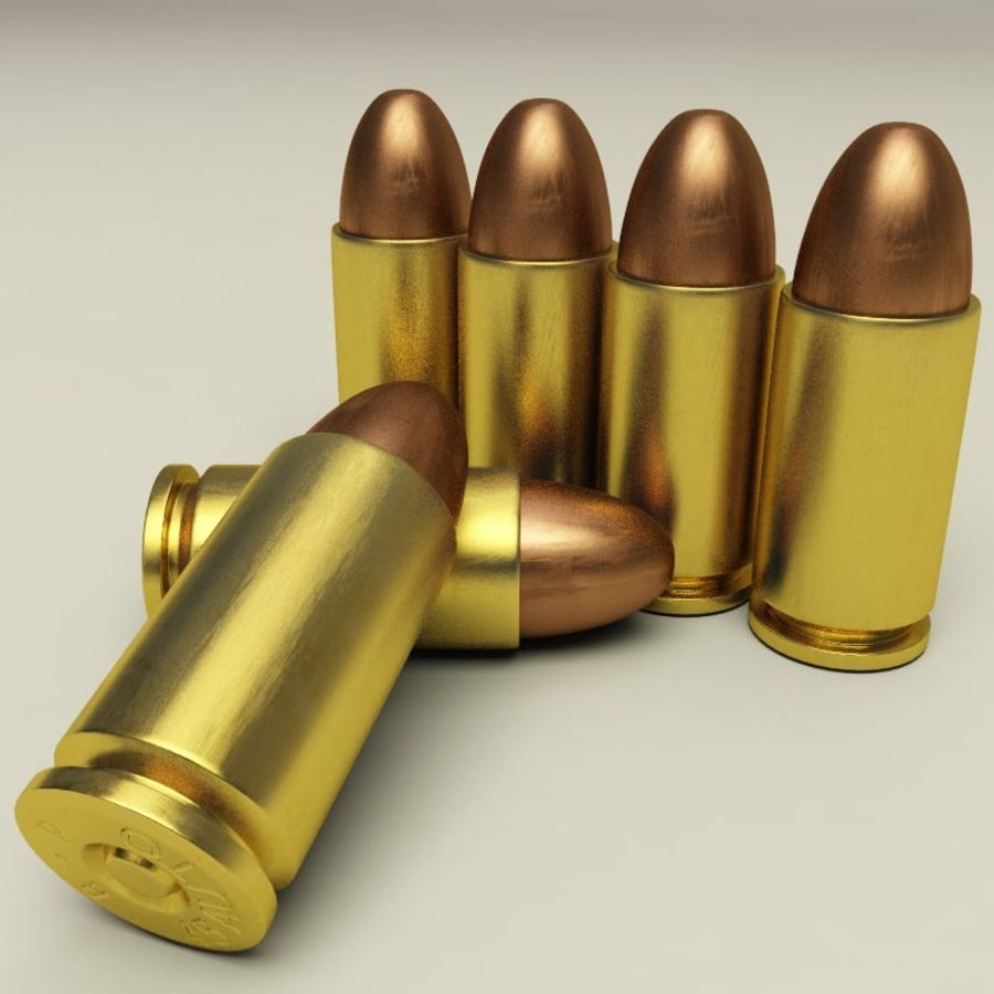 Collezione di cartucce a pistola royalty-free 3d model - Preview no. 32