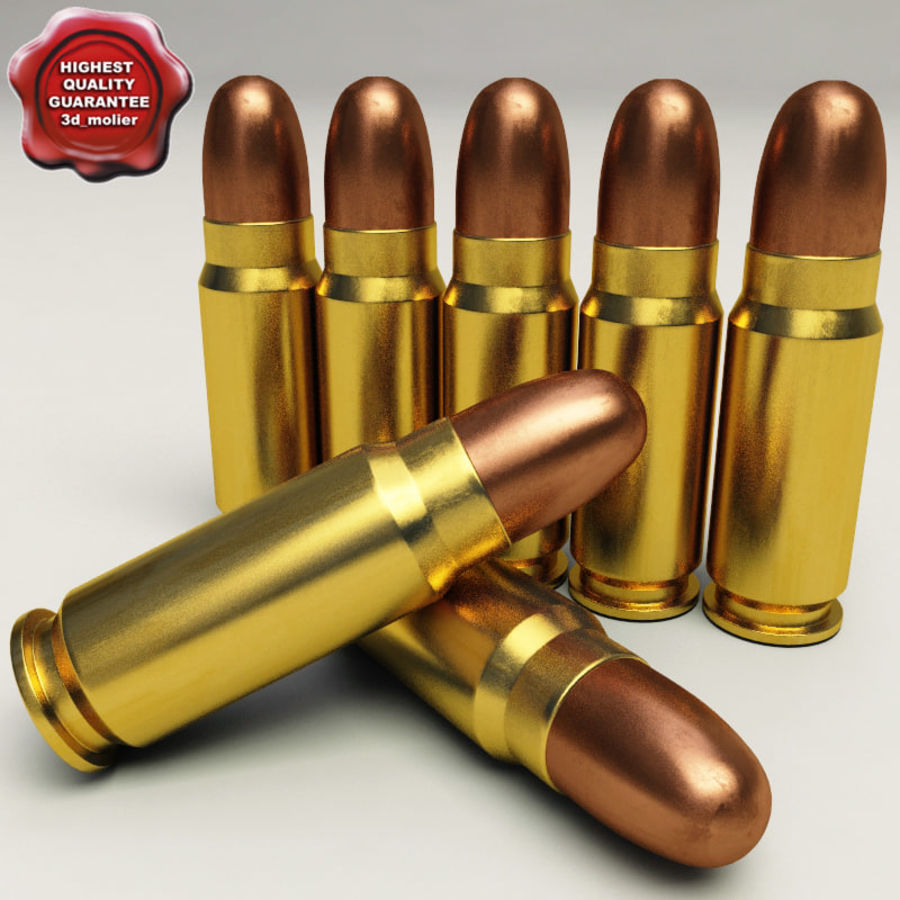 Collezione di cartucce a pistola royalty-free 3d model - Preview no. 2