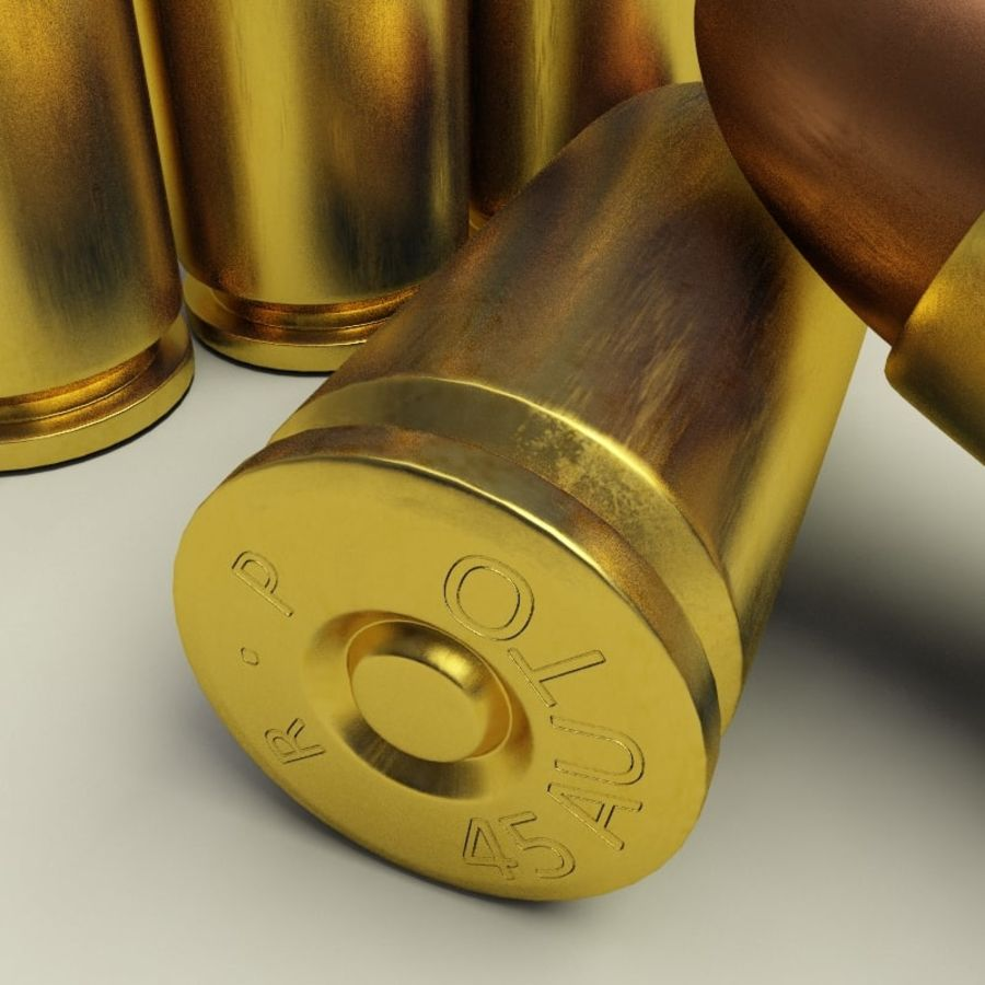 Collezione di cartucce a pistola royalty-free 3d model - Preview no. 33