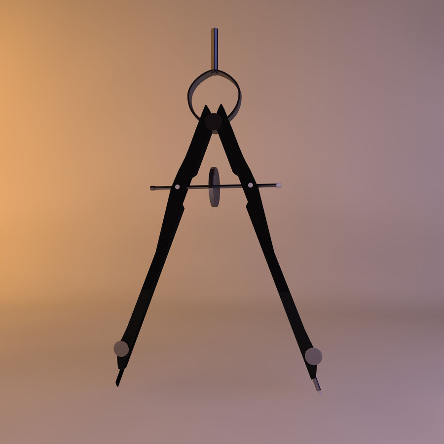 Compass royalty-free 3d model - Preview no. 1