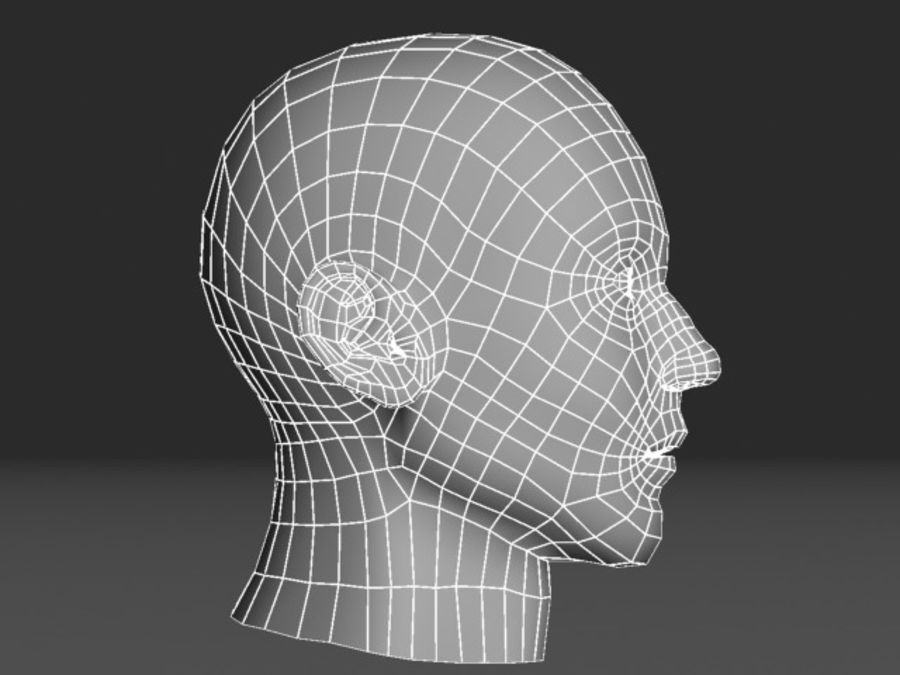 캐릭터 헤드 1 royalty-free 3d model - Preview no. 3