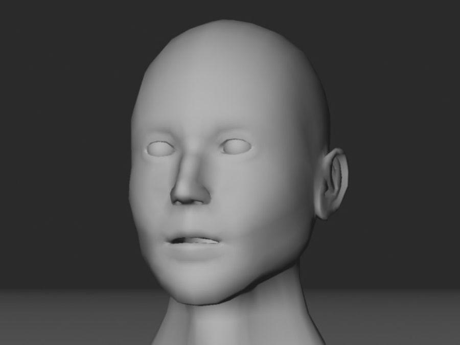 캐릭터 헤드 1 royalty-free 3d model - Preview no. 6