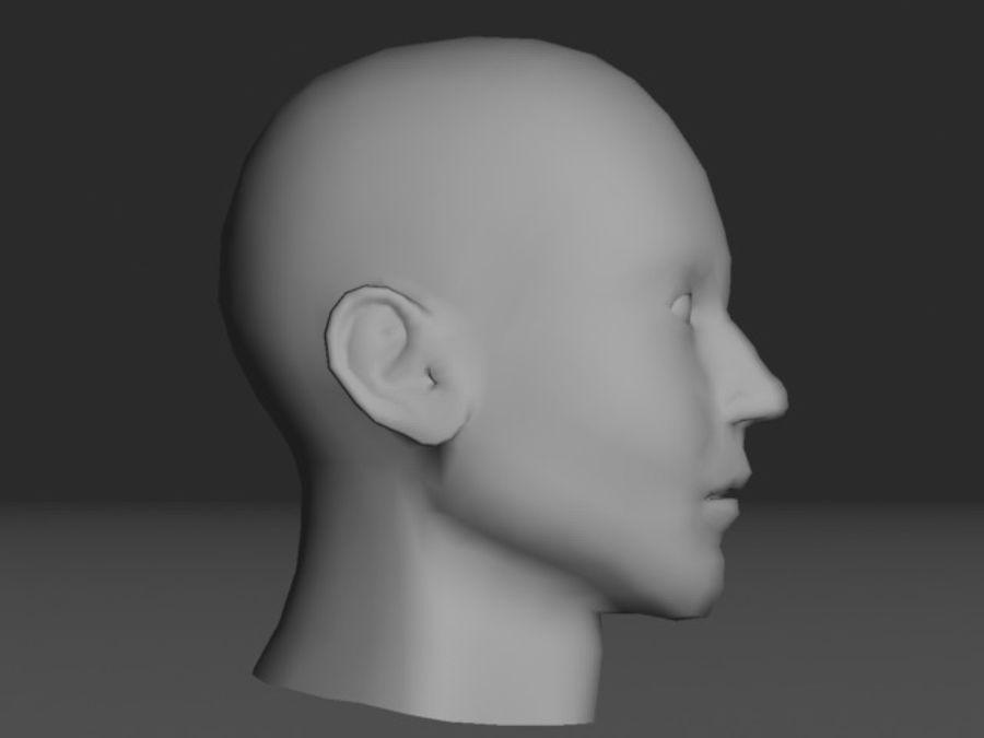 캐릭터 헤드 1 royalty-free 3d model - Preview no. 2