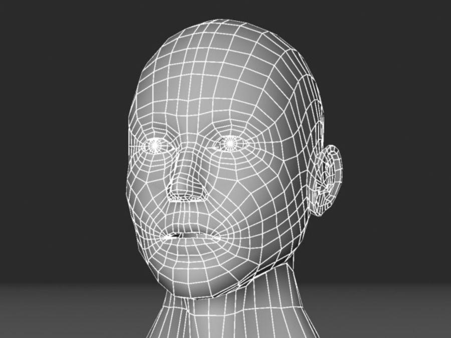 캐릭터 헤드 1 royalty-free 3d model - Preview no. 7
