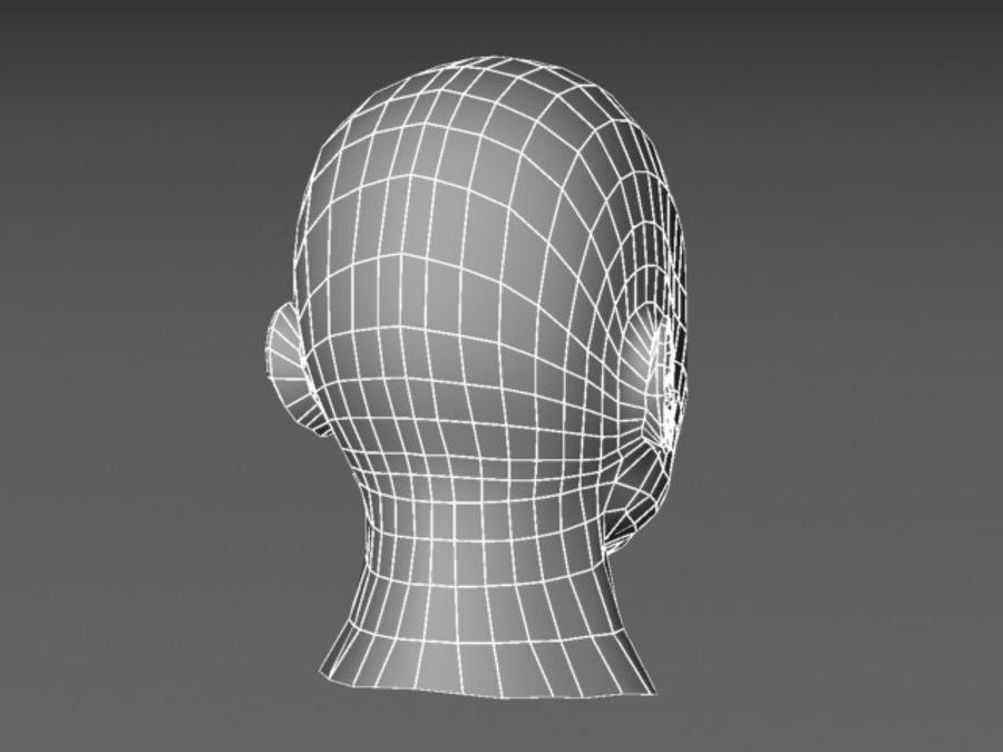 캐릭터 헤드 1 royalty-free 3d model - Preview no. 5