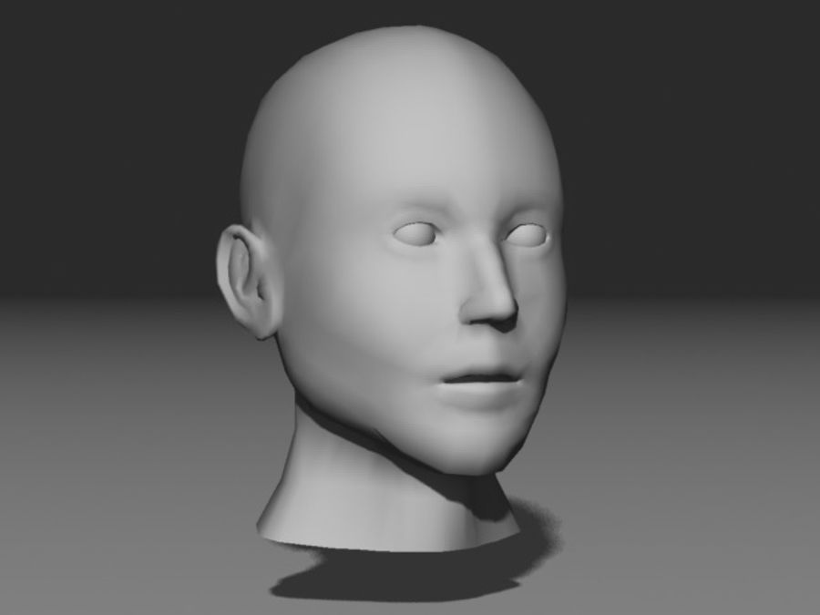 캐릭터 헤드 1 royalty-free 3d model - Preview no. 1