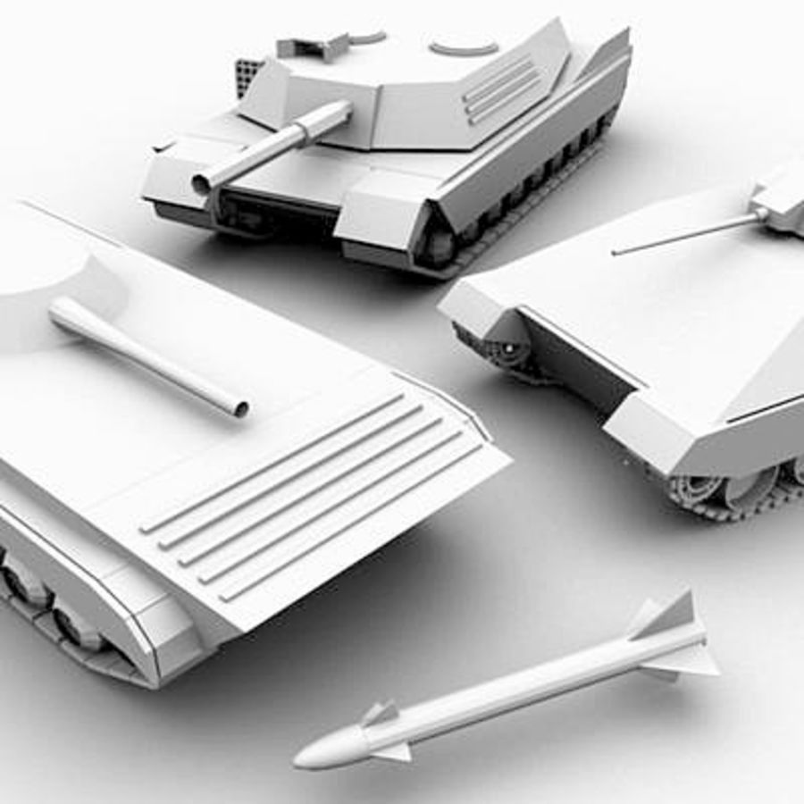 Tank Object Pack royalty-free 3d model - Preview no. 1