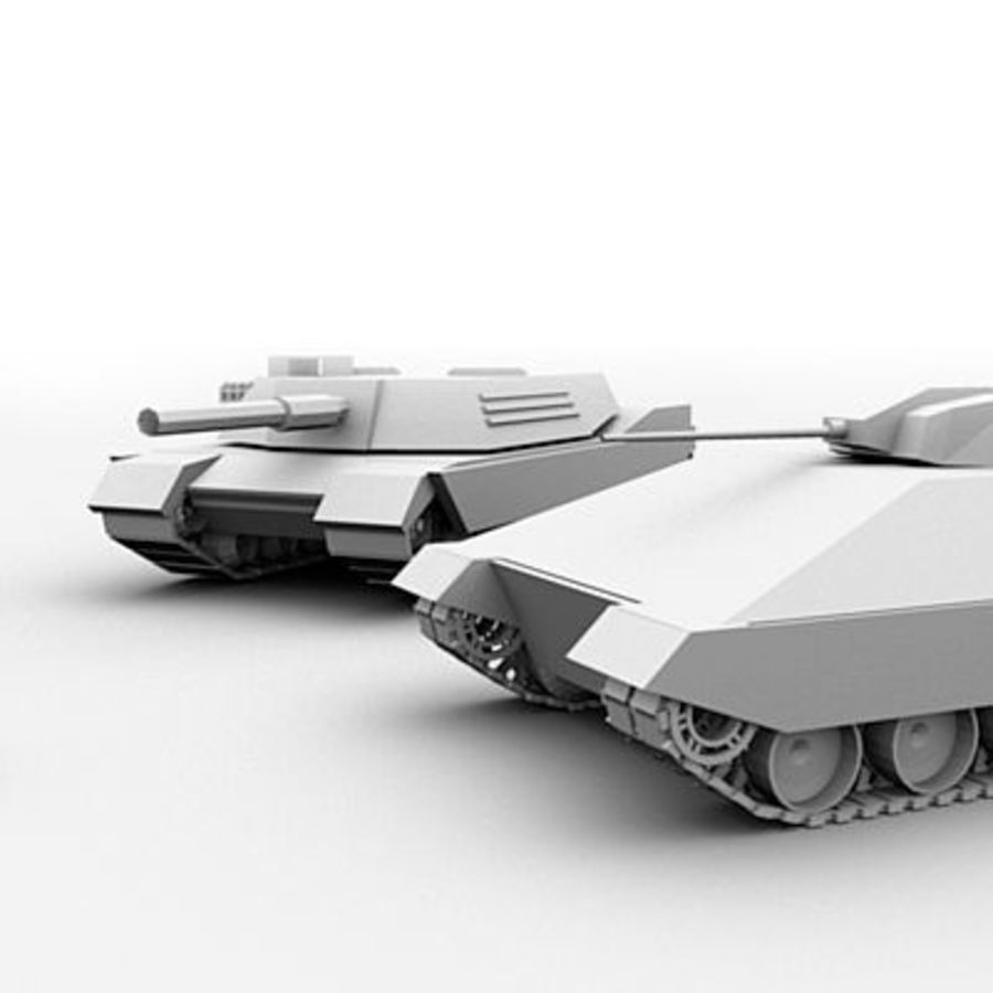 Tank Object Pack royalty-free 3d model - Preview no. 5