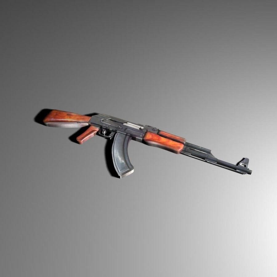 ak 47 royalty-free modelo 3d - Preview no. 1
