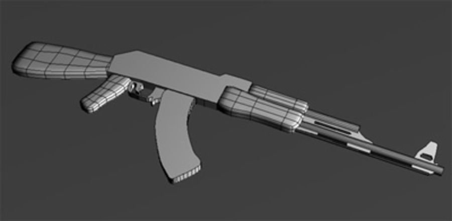 ak 47 royalty-free modelo 3d - Preview no. 3