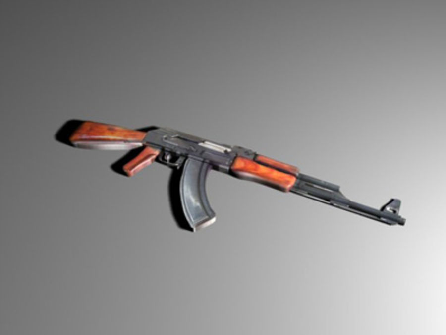 ak 47 royalty-free modelo 3d - Preview no. 2