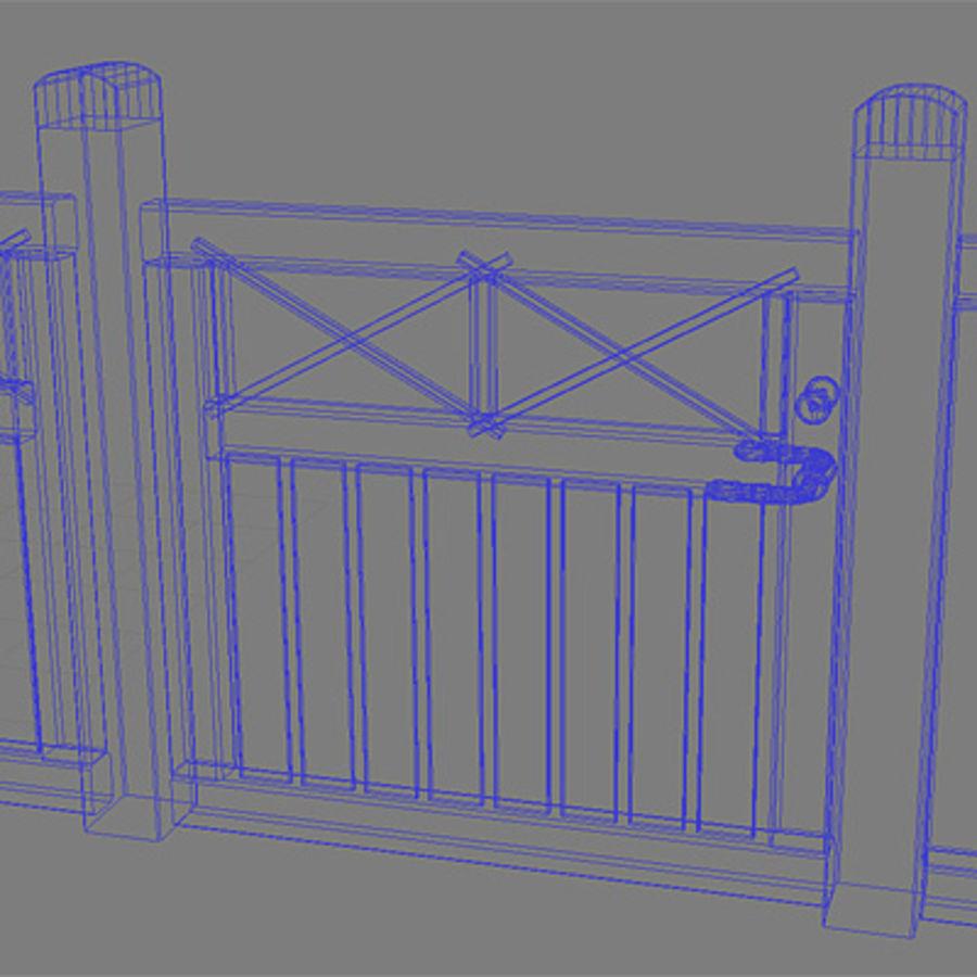Ogrodzenie - Drewniane Hi Res royalty-free 3d model - Preview no. 6