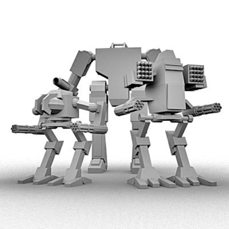 Mecha Object Pack royalty-free 3d model - Preview no. 2