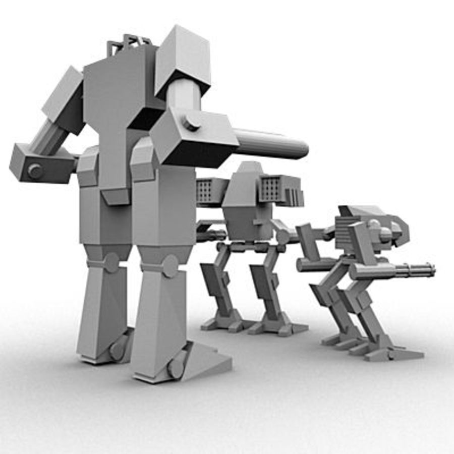 Mecha Object Pack royalty-free 3d model - Preview no. 4