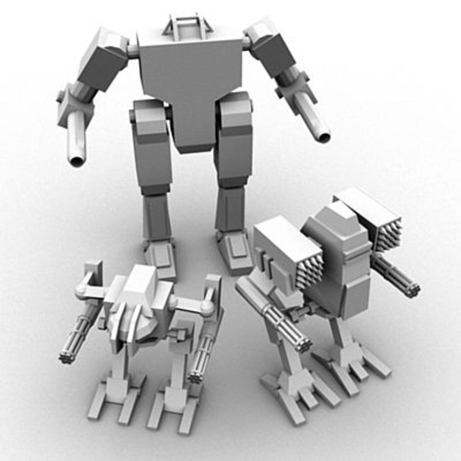 Mecha Object Pack royalty-free 3d model - Preview no. 1