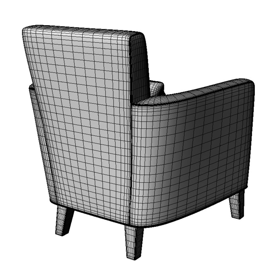 Club Chair royalty-free 3d model - Preview no. 3