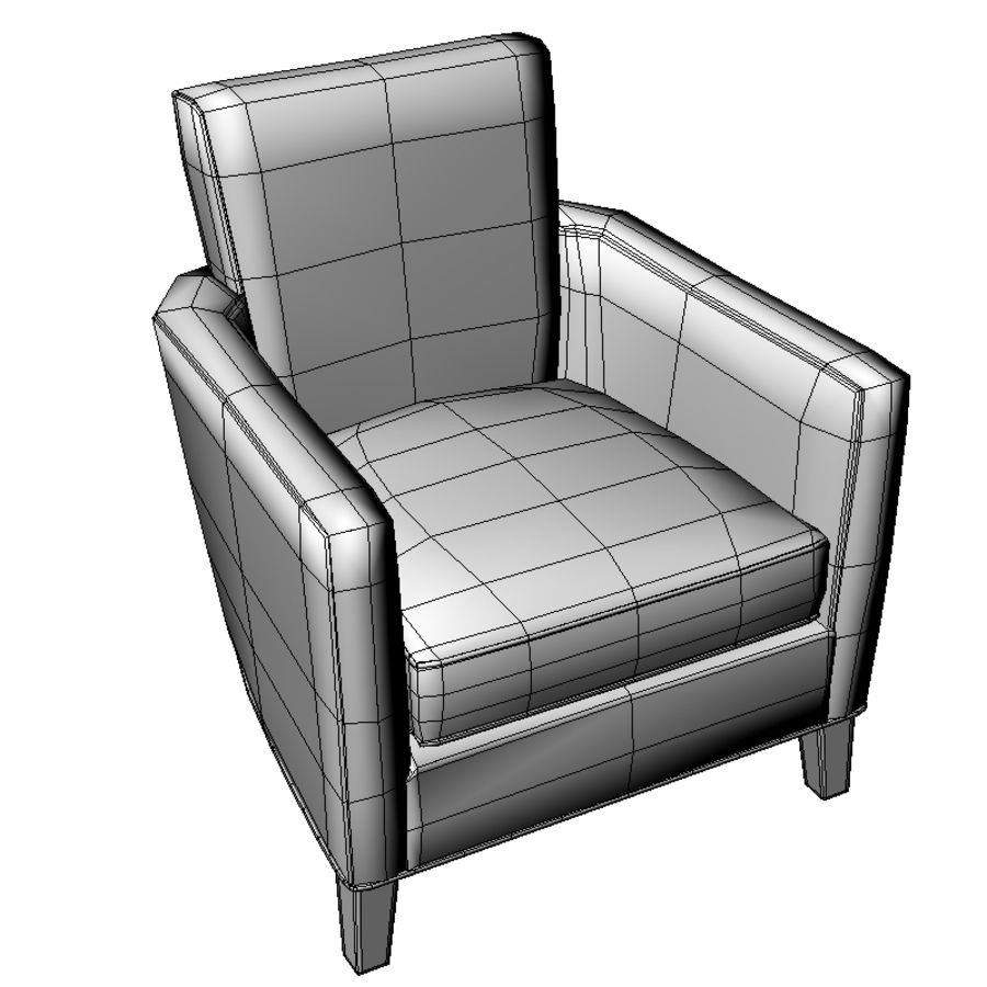 Club Chair royalty-free 3d model - Preview no. 5