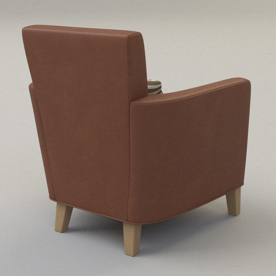 Club Chair royalty-free 3d model - Preview no. 2