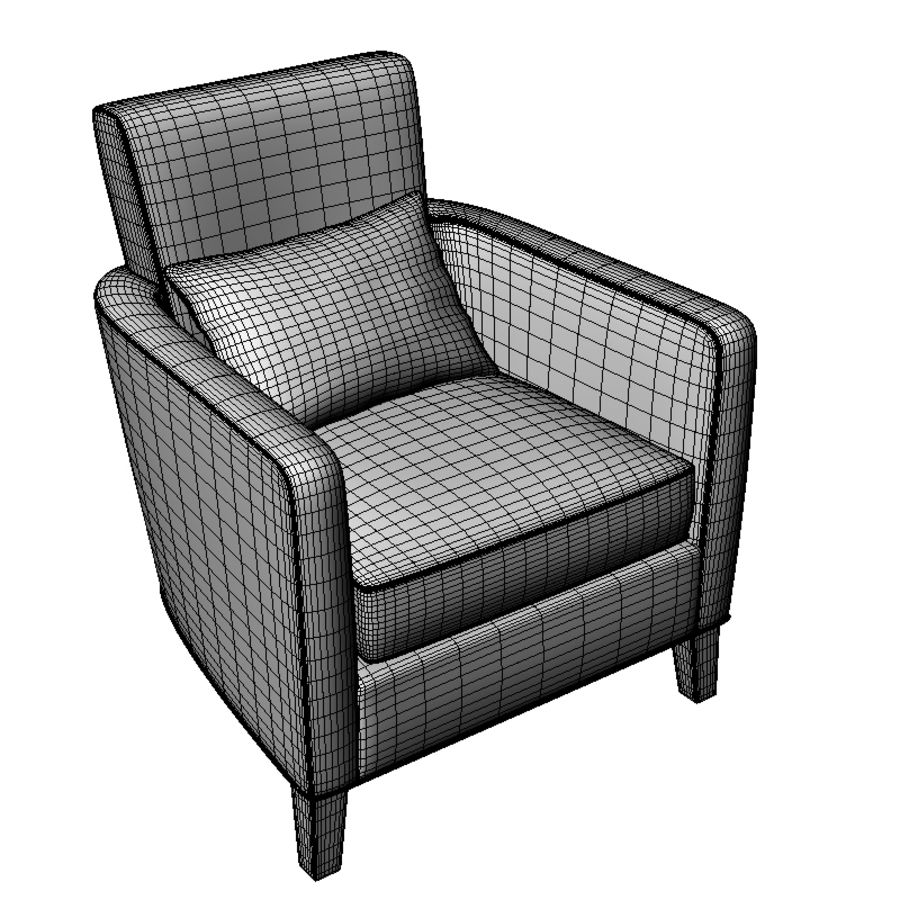 Club Chair royalty-free 3d model - Preview no. 4