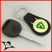 chaves do carro 3d model