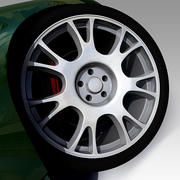Imitation BBS RE Rims 3d model