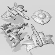 Object Pack Space Shooter 3d model