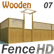 Fence - Wooden Fence 3d model