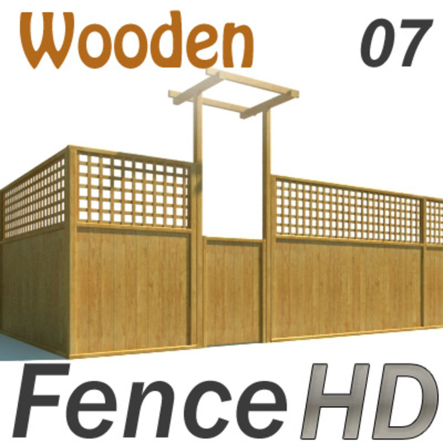 Fence - Wooden Fence royalty-free 3d model - Preview no. 1
