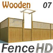 Fence - Wooden Fence 3d model