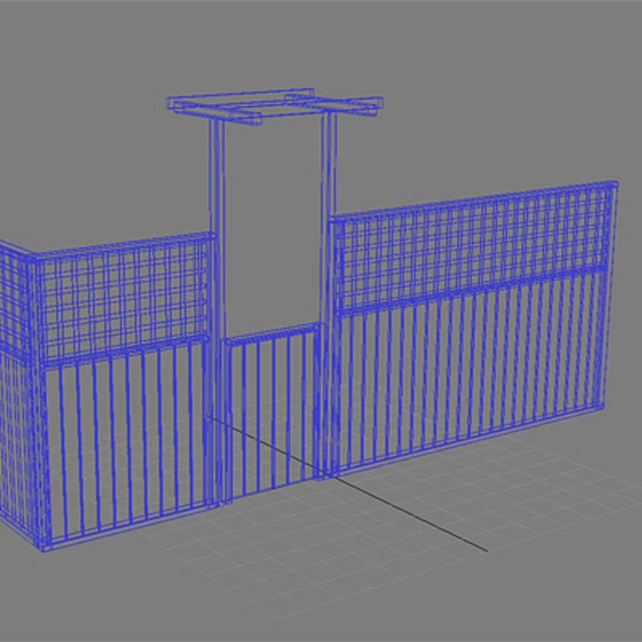 Fence - Wooden Fence royalty-free 3d model - Preview no. 5