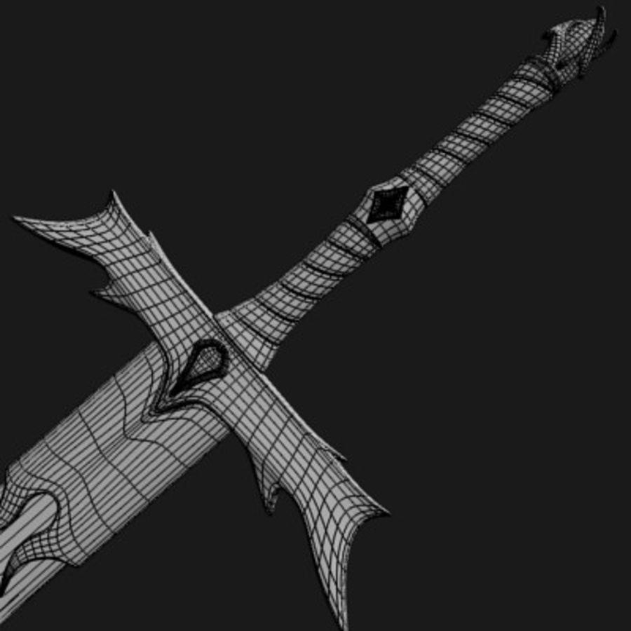 Elegant Sword royalty-free 3d model - Preview no. 9