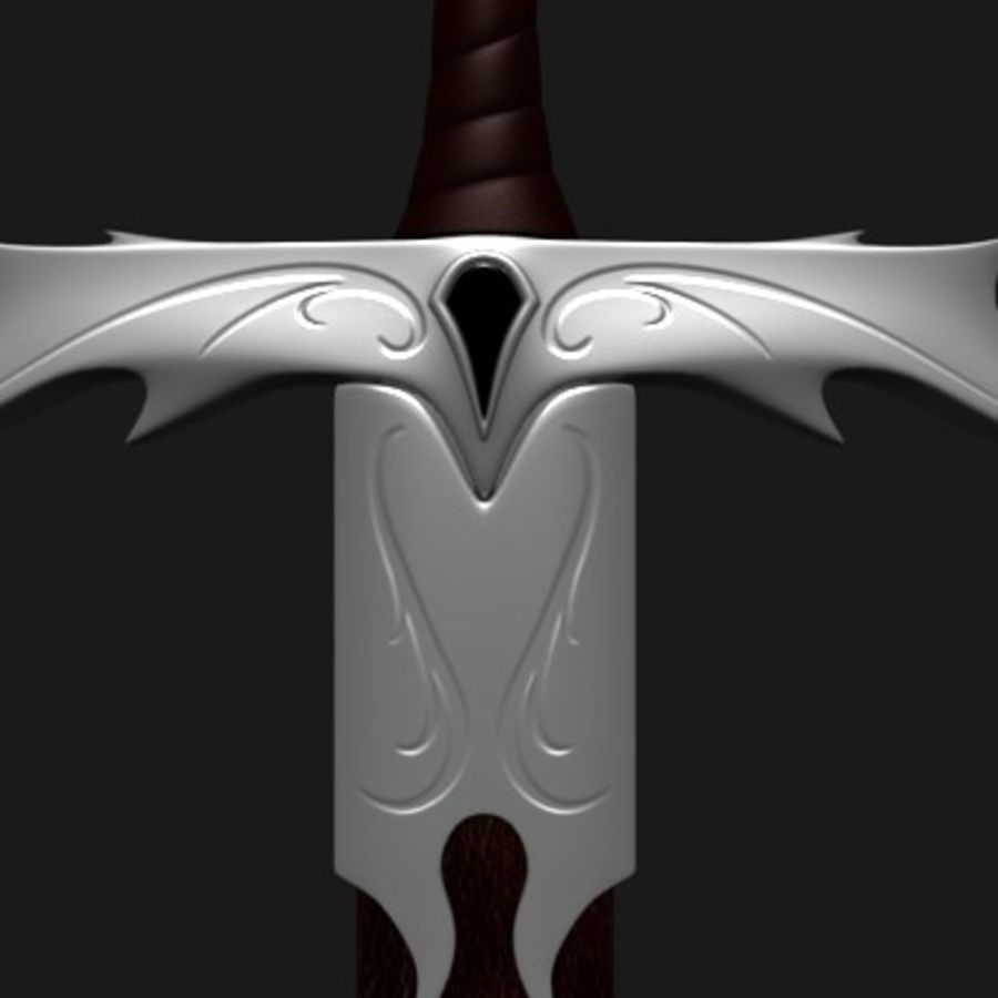 Elegant Sword royalty-free 3d model - Preview no. 6