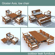 Gloster Axis 옥외 가구 3d model