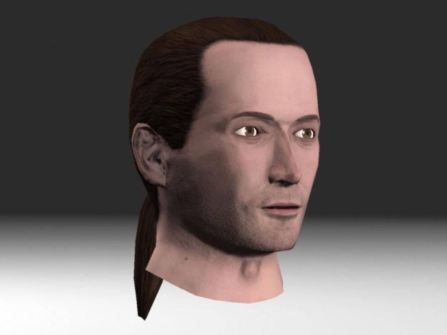 karakter hoofd 2 royalty-free 3d model - Preview no. 1