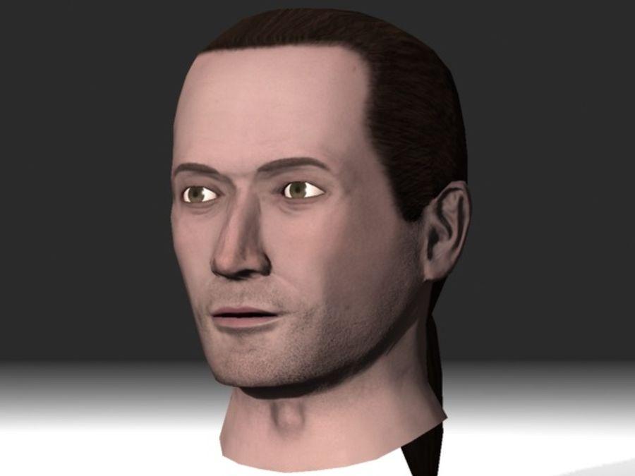 karakter hoofd 2 royalty-free 3d model - Preview no. 4