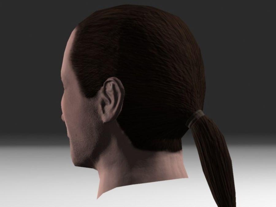 karakter hoofd 2 royalty-free 3d model - Preview no. 6