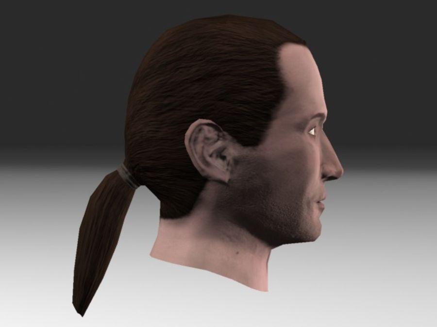karakter hoofd 2 royalty-free 3d model - Preview no. 2