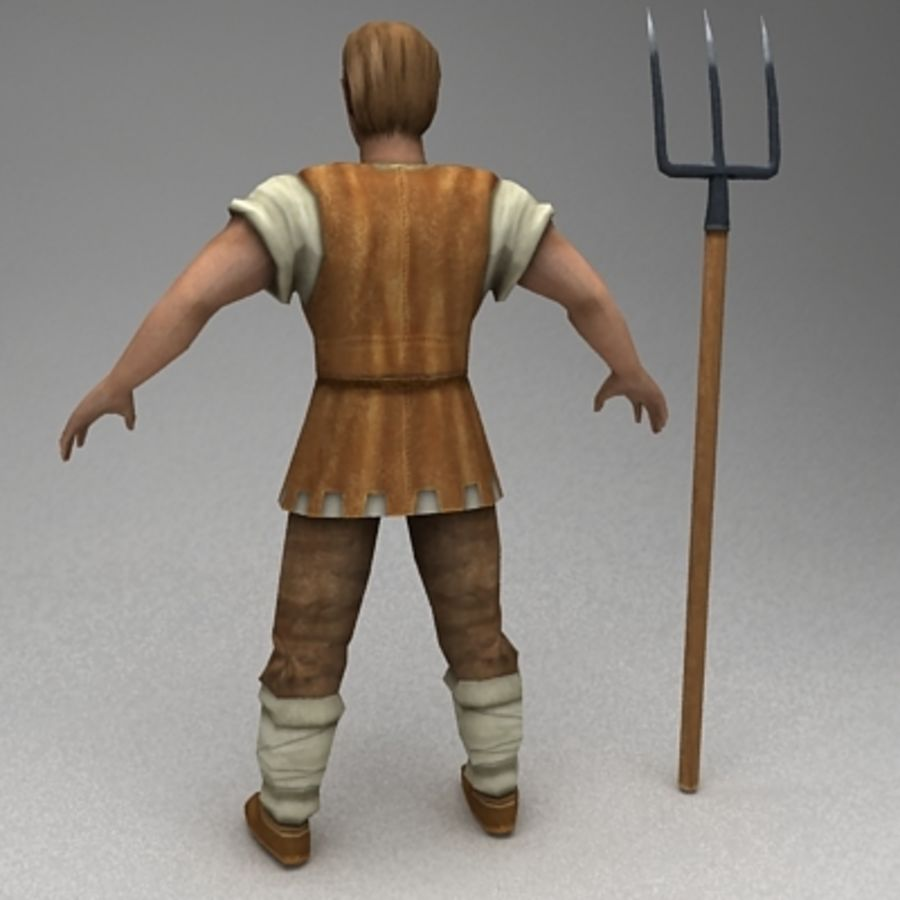 Animated peasant royalty-free 3d model - Preview no. 4
