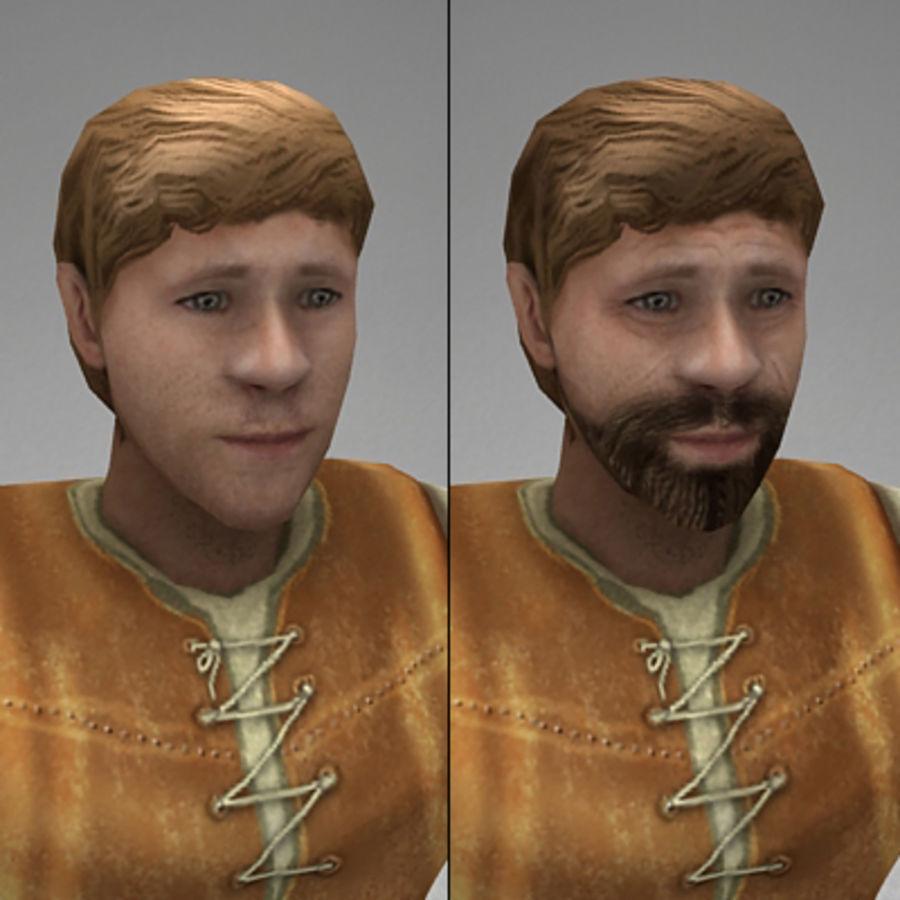 Animated peasant royalty-free 3d model - Preview no. 6