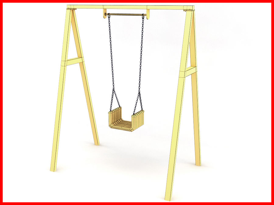 Single Swing royalty-free 3d model - Preview no. 5