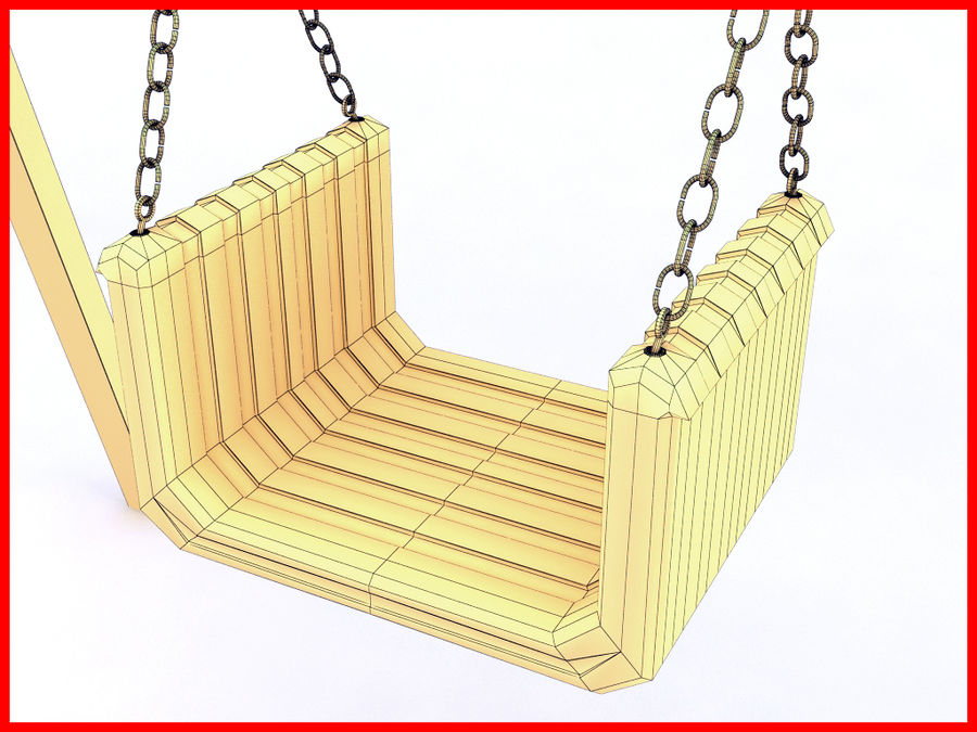 Single Swing royalty-free 3d model - Preview no. 6