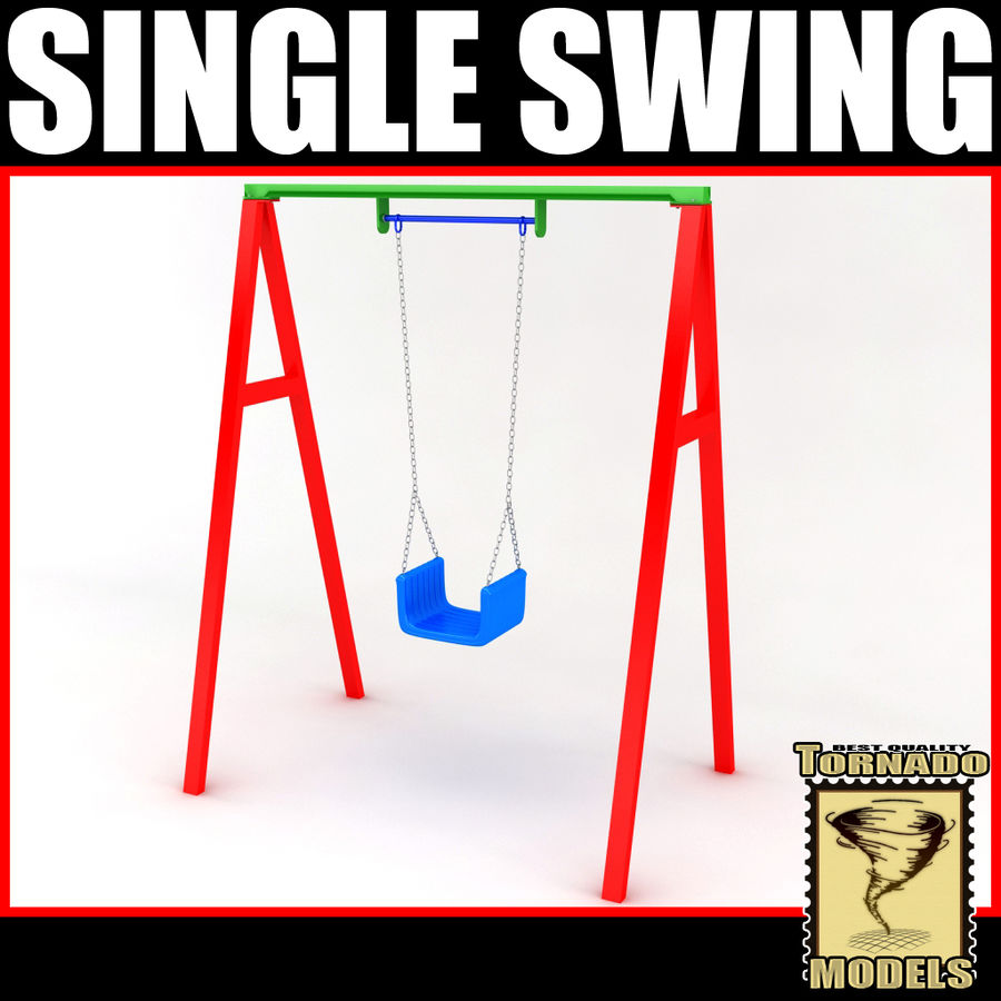 Single Swing royalty-free 3d model - Preview no. 1
