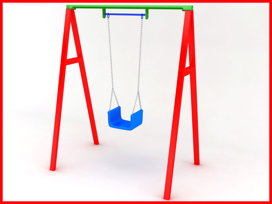 Single Swing royalty-free 3d model - Preview no. 2